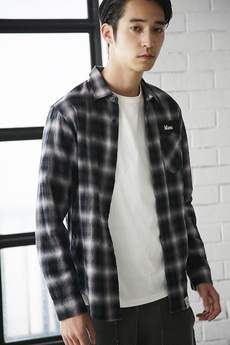 【AZUL by moussy】Shirring Check Shirt