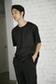 《7/24(月)11:59までWEB限定価格》【AZUL by moussy】異素材切替ストライプクルーネック半袖T