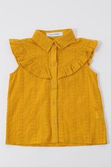 【KIDS】ノースリーブフリルシャツ