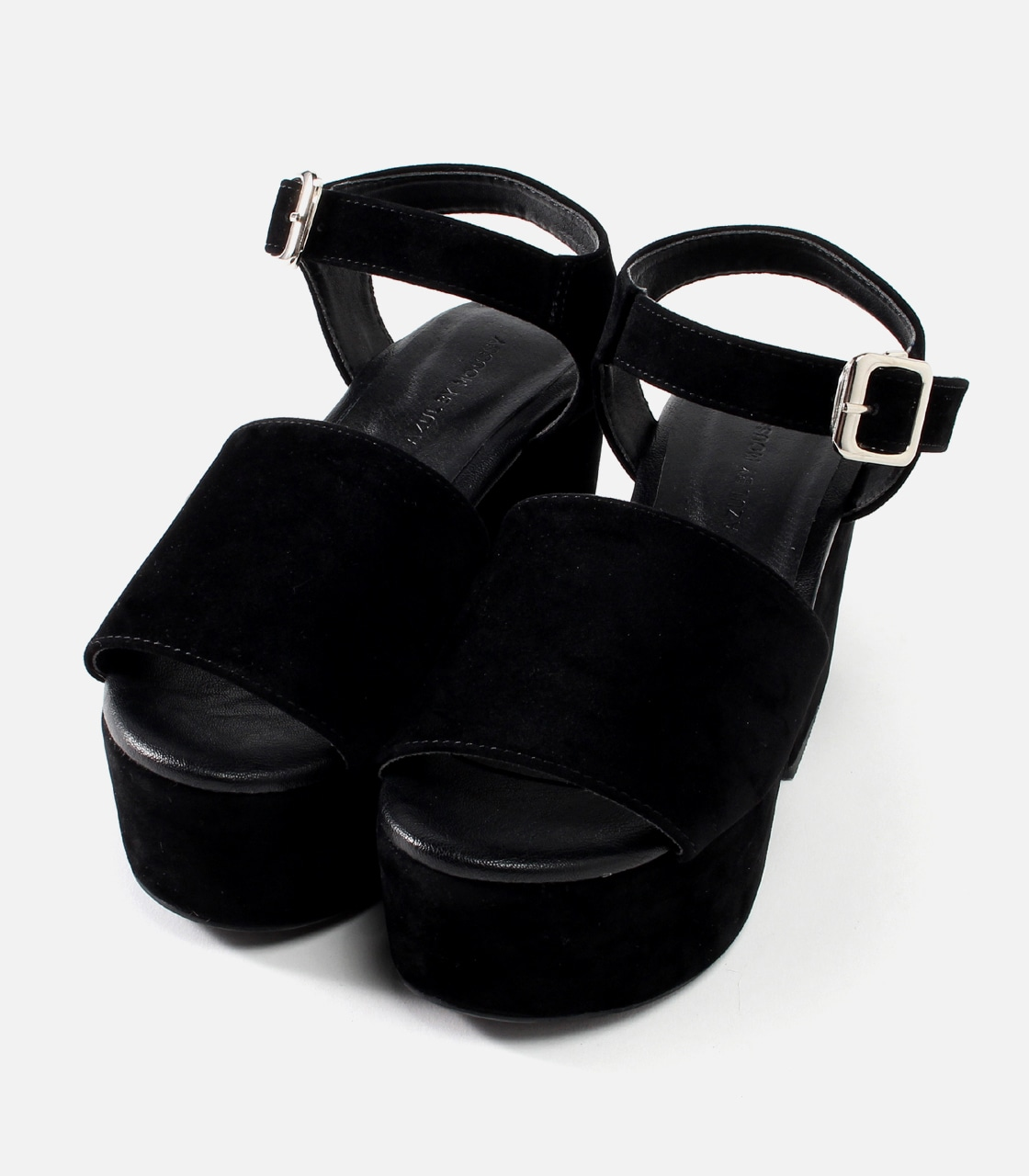 【AZUL BY MOUSSY】ベロア厚底サンダル 詳細画像 BLK 1