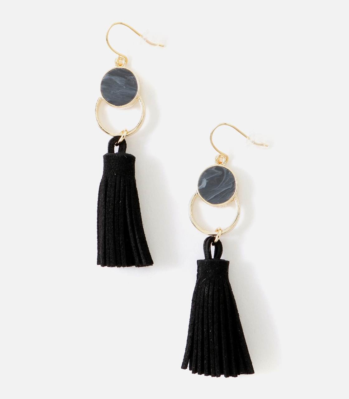 【AZUL BY MOUSSY】フェイクスエードタッセルフックピアス 詳細画像 BLK 1