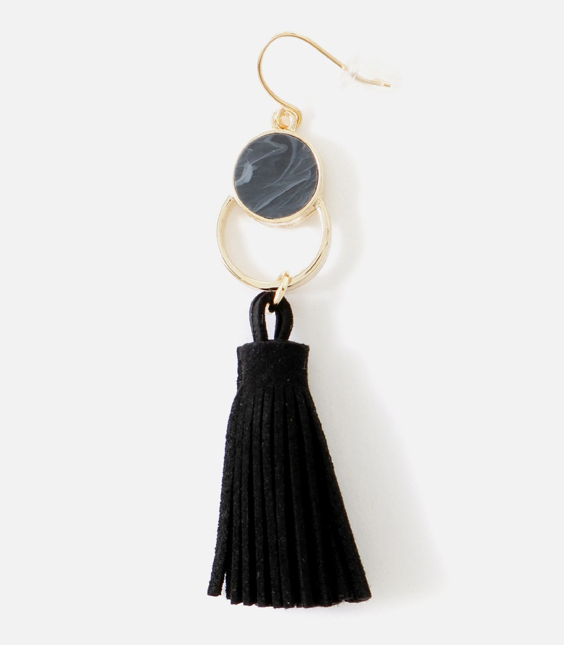 【AZUL BY MOUSSY】フェイクスエードタッセルフックピアス 詳細画像 BLK 2