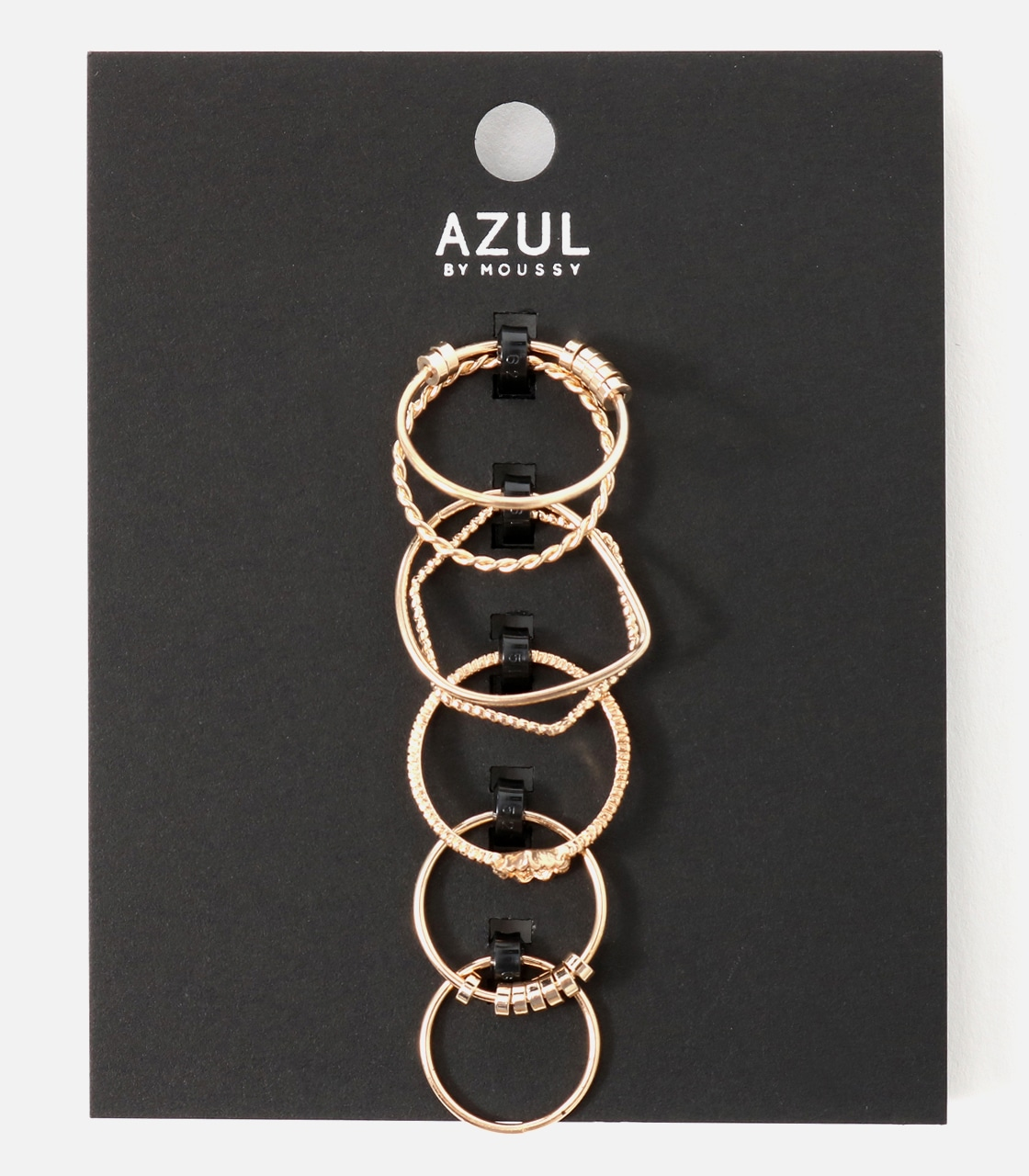 【AZUL BY MOUSSY】マルチモチーフ7本SETリング 詳細画像 L/GLD 1