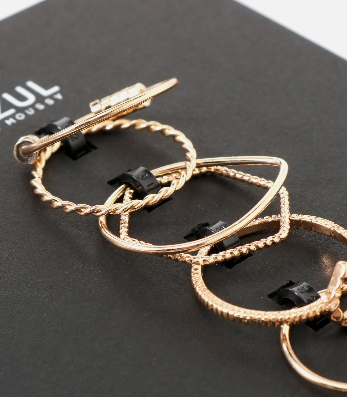 【AZUL BY MOUSSY】マルチモチーフ7本SETリング 詳細画像 L/GLD 5