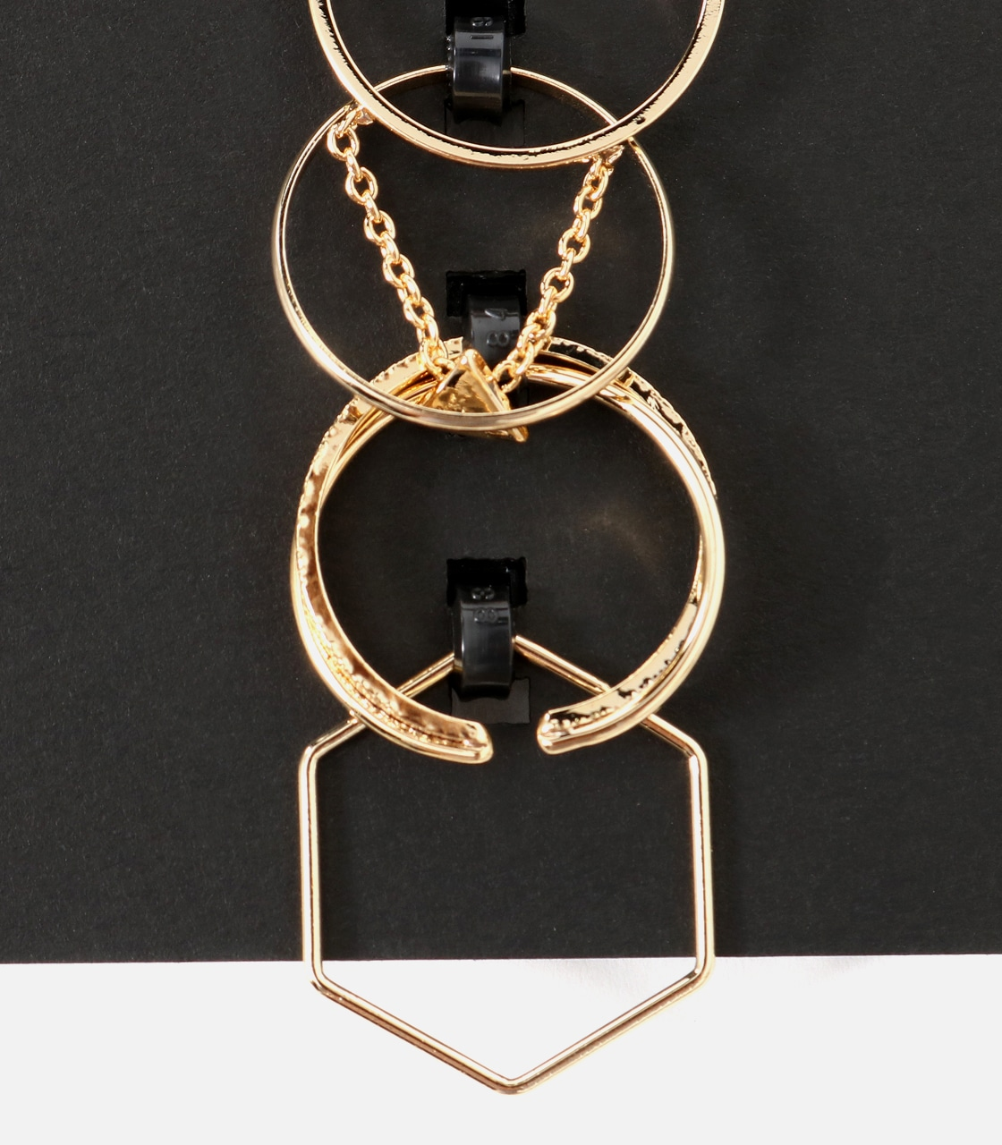 【AZUL BY MOUSSY】チェーンモチーフ5本SETリング 詳細画像 L/GLD 3