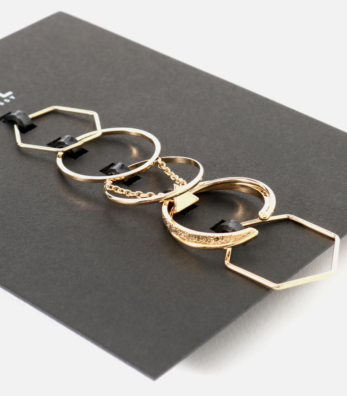 【AZUL BY MOUSSY】チェーンモチーフ5本SETリング 詳細画像 L/GLD 4