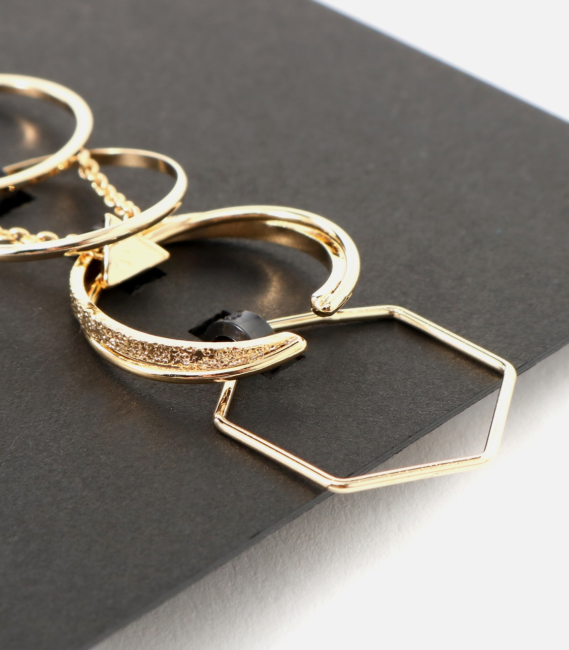 【AZUL BY MOUSSY】チェーンモチーフ5本SETリング 詳細画像 L/GLD 7