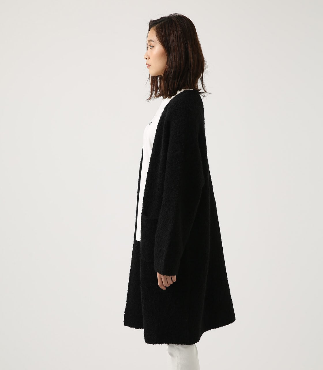 【AZUL BY MOUSSY】ブークレロングカーデ 詳細画像 BLK 6
