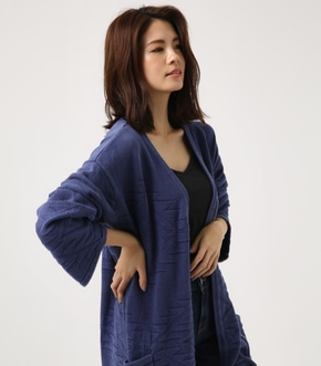 【AZUL BY MOUSSY】ネイティブ柄ニットカーデ