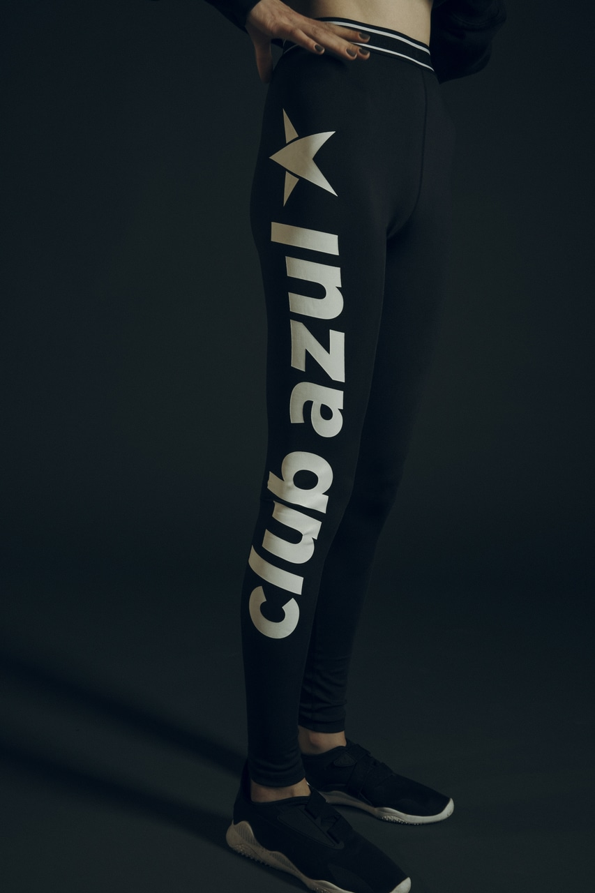 【AZUL BY MOUSSY】CLUB AZUL LOGO LEGGINGS 詳細画像 BLK 1