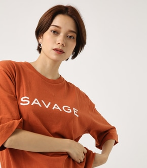 【AZUL BY MOUSSY】SAVAGE ルーズTEE
