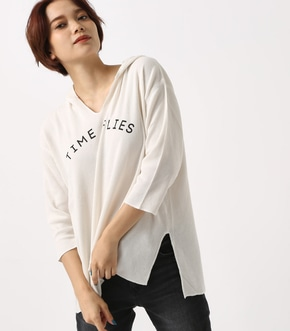 【AZUL BY MOUSSY】TIME FLIES サーマルフーディー