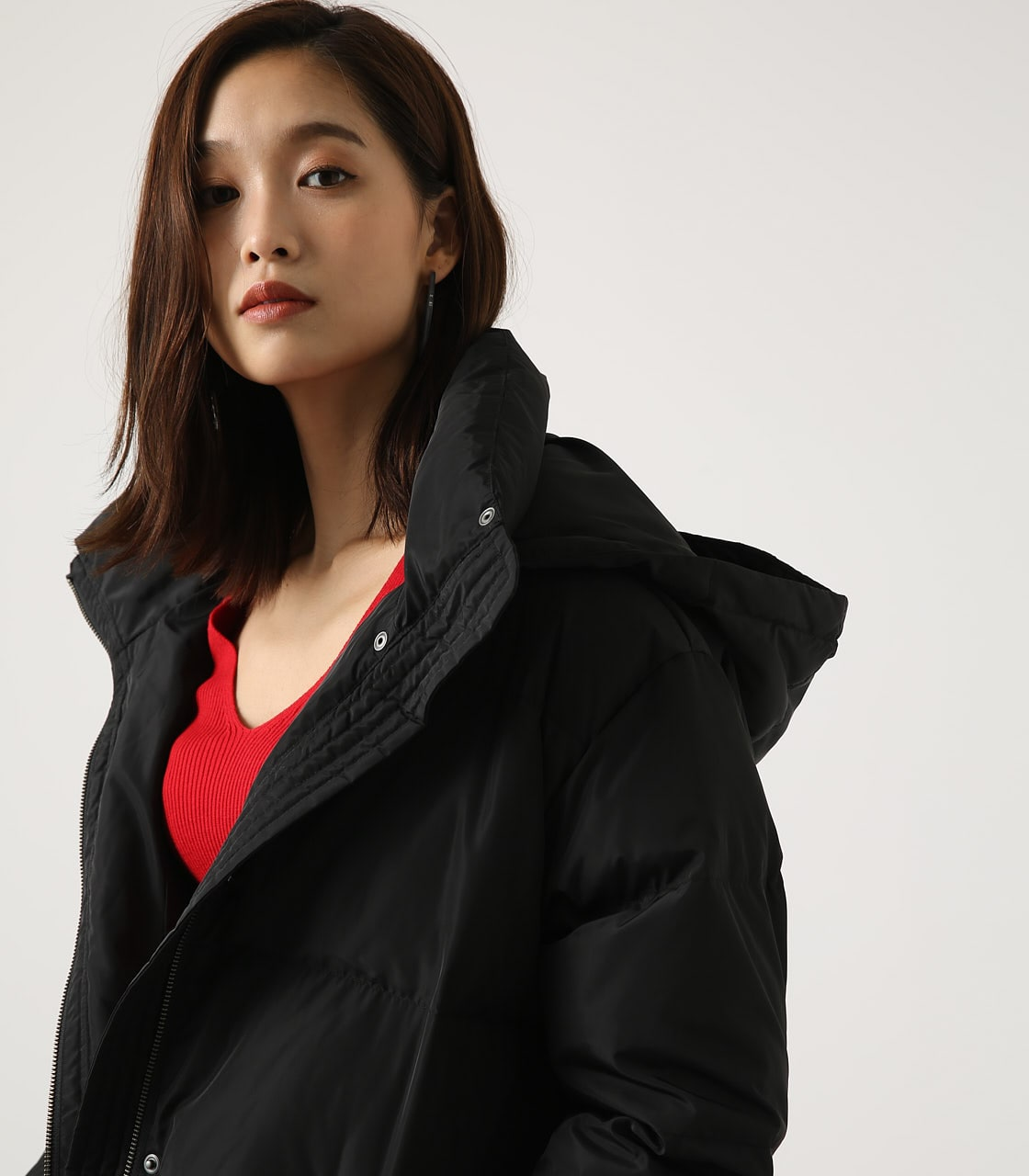 【AZUL BY MOUSSY】コクーン中綿コート 詳細画像 BLK 2