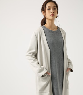 【AZUL BY MOUSSY】フェイクスエードノーカラーコート
