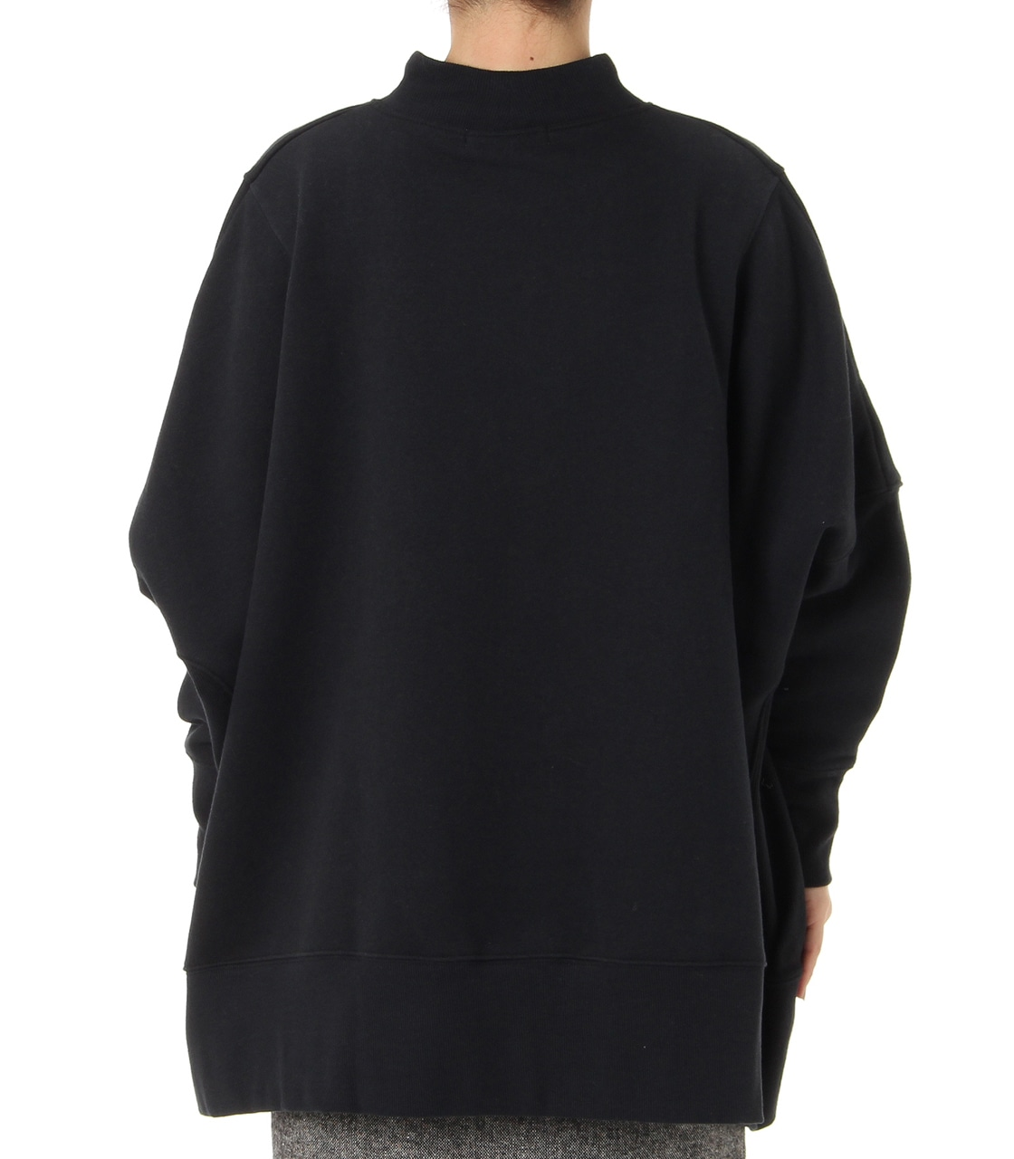 【AZUL BY MOUSSY】変形ドルマン裏毛チュニック 詳細画像 BLK 2