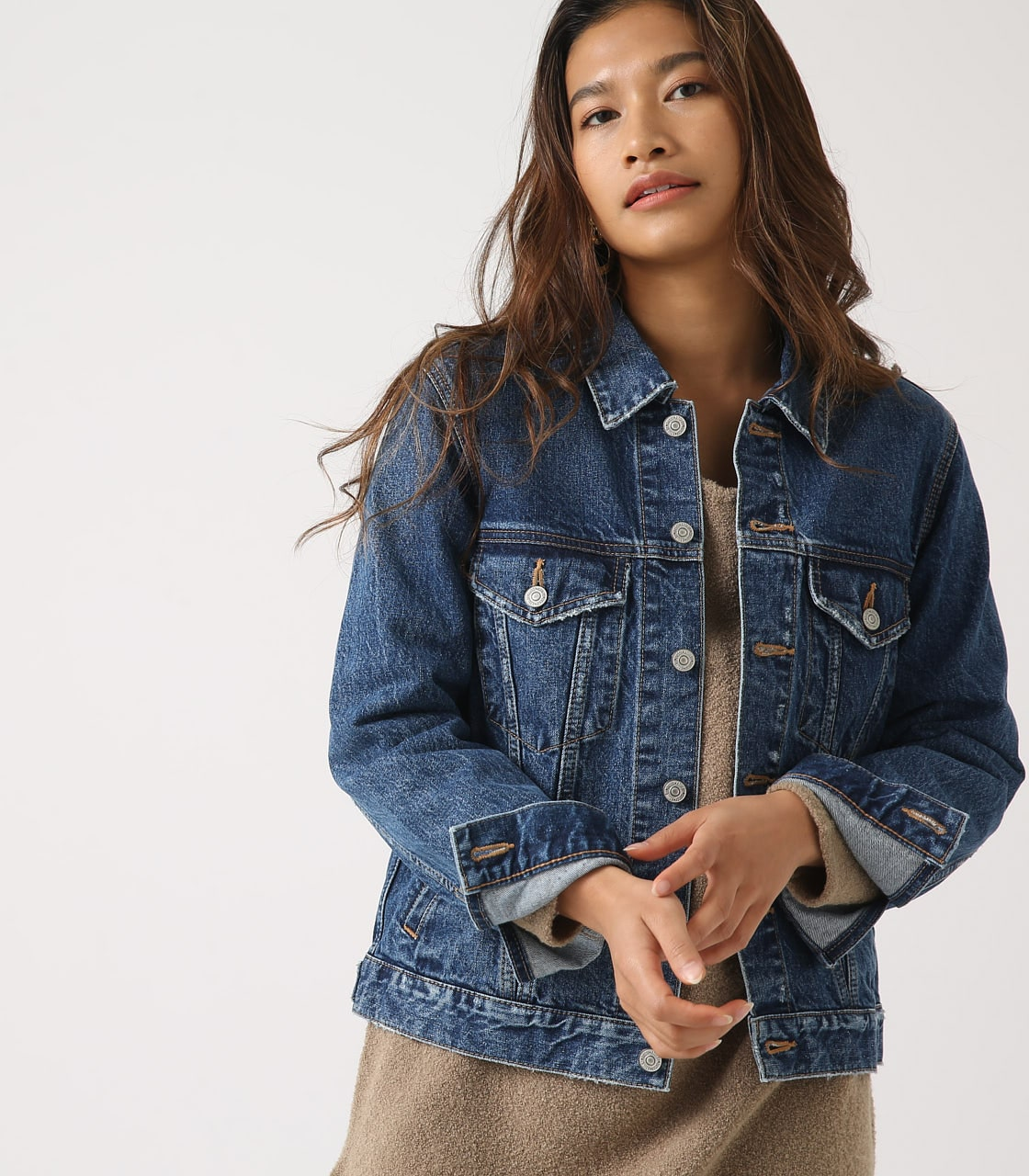 【AZUL BY MOUSSY】DENIM JACKET 詳細画像 BLU 1