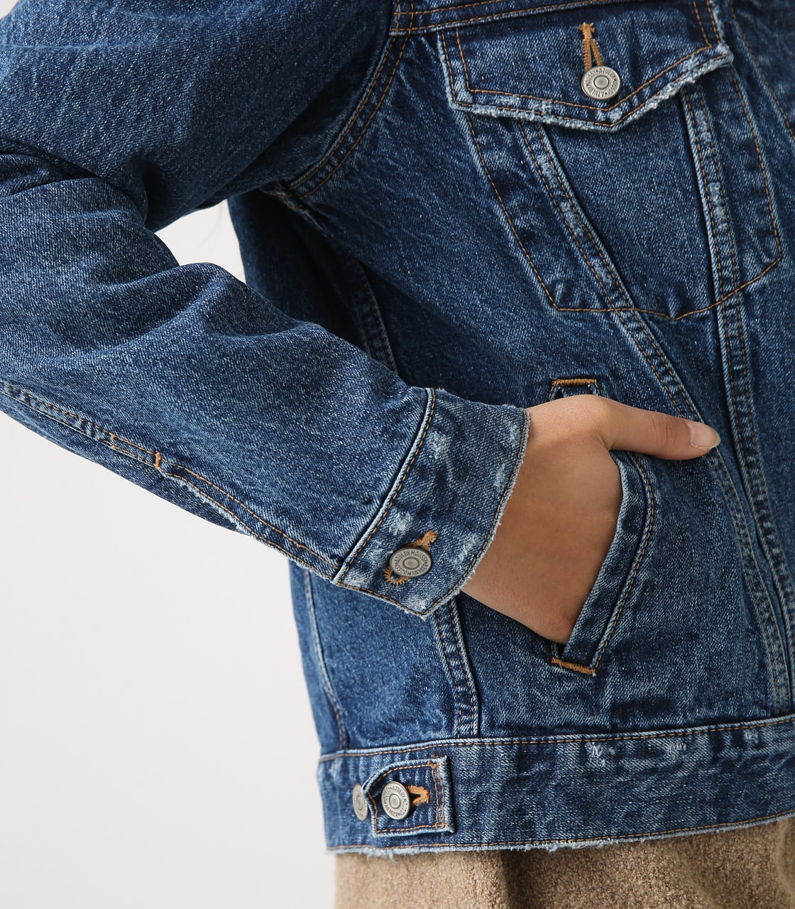【AZUL BY MOUSSY】DENIM JACKET 詳細画像 BLU 9