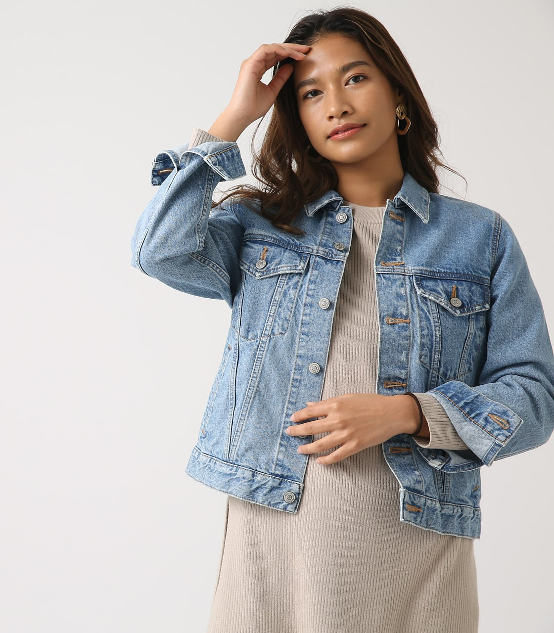 【AZUL BY MOUSSY】DENIM JACKET 詳細画像 L/BLU 1