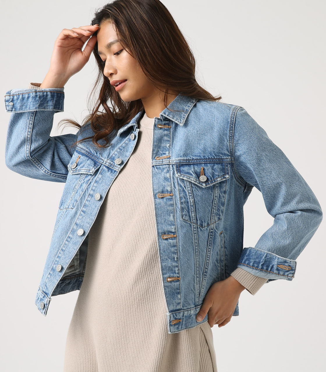 【AZUL BY MOUSSY】DENIM JACKET 詳細画像 L/BLU 2
