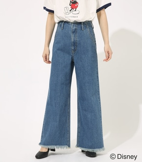 【AZUL BY MOUSSY】FRINGE DENIM WIDE
