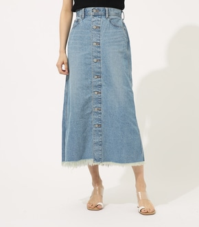 【AZUL BY MOUSSY】FRONT BUTTON DENIM LONG SKIRT