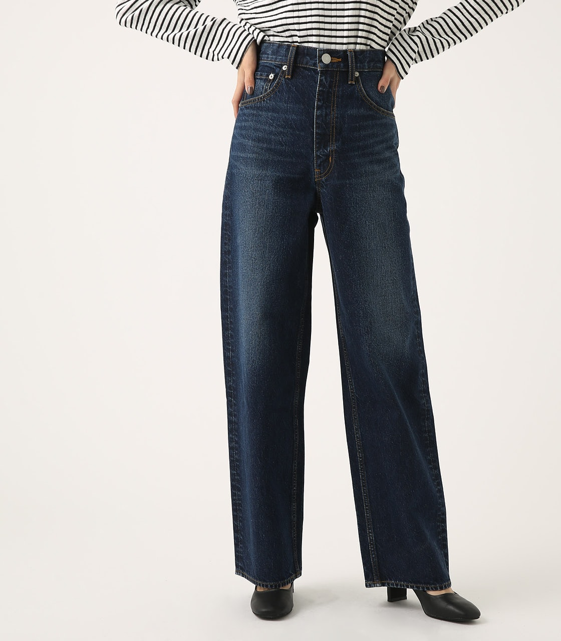 HIGH WAIST DENIM WIDE 詳細画像 D/BLU 1