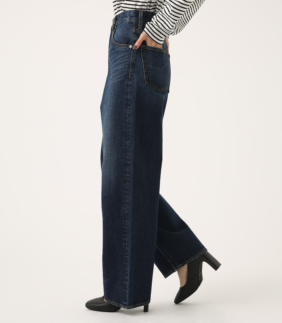 HIGH WAIST DENIM WIDE 詳細画像 D/BLU 2