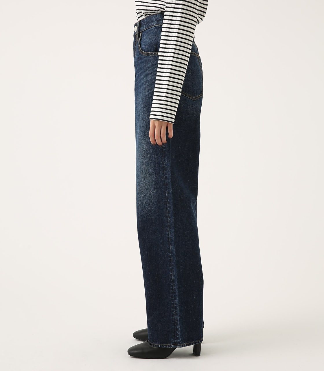 HIGH WAIST DENIM WIDE 詳細画像 D/BLU 6