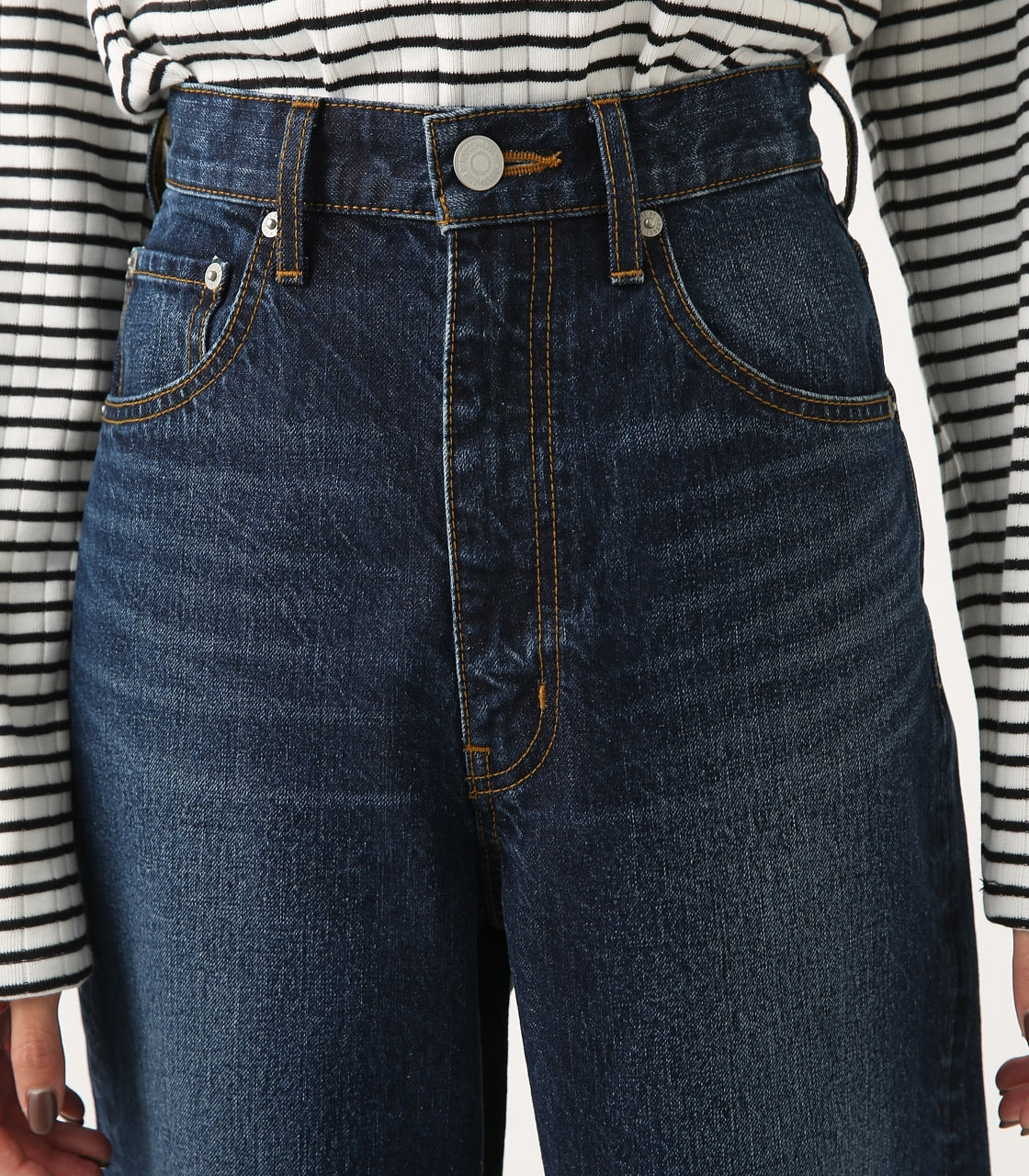 HIGH WAIST DENIM WIDE 詳細画像 D/BLU 8