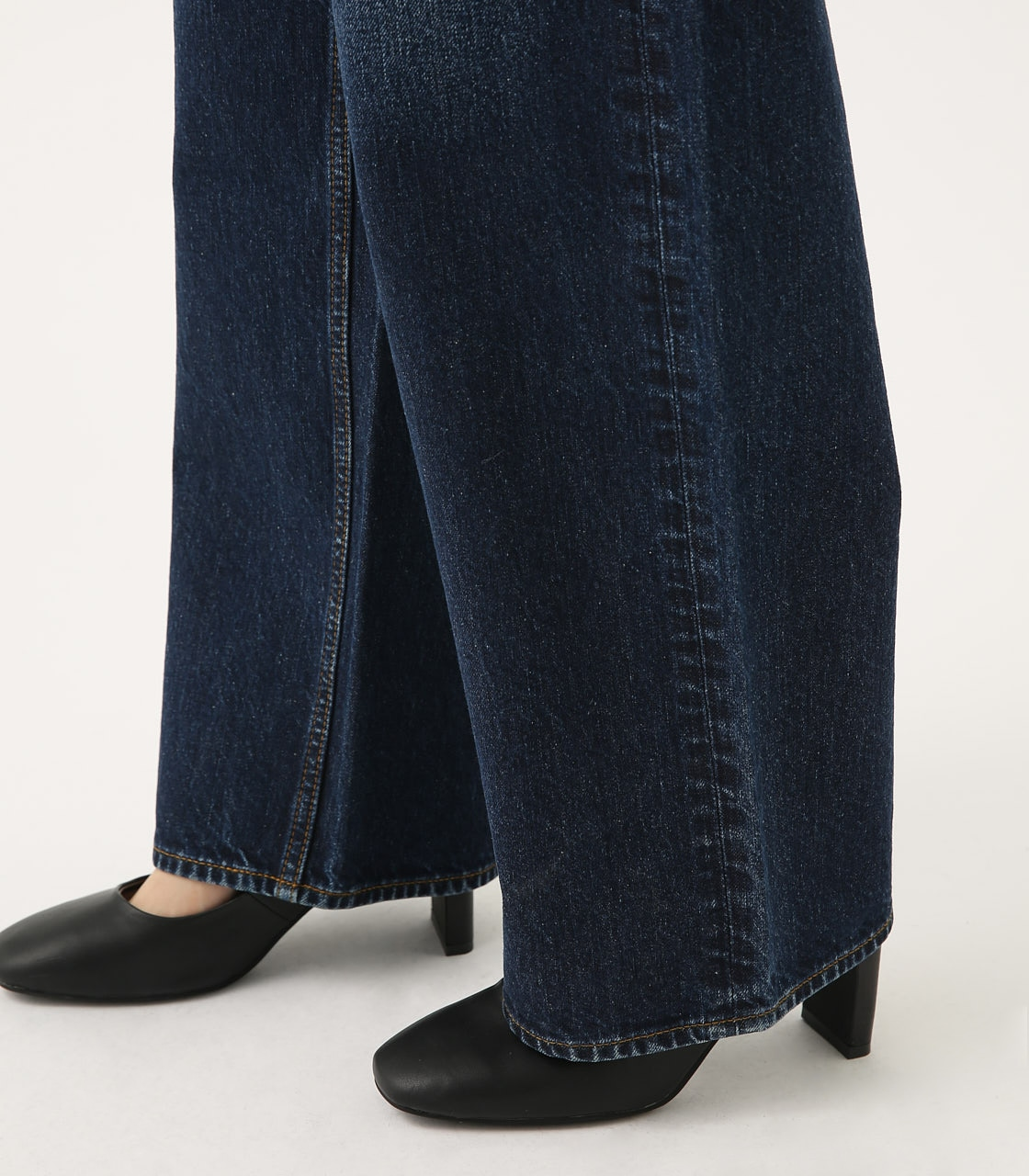HIGH WAIST DENIM WIDE 詳細画像 D/BLU 9