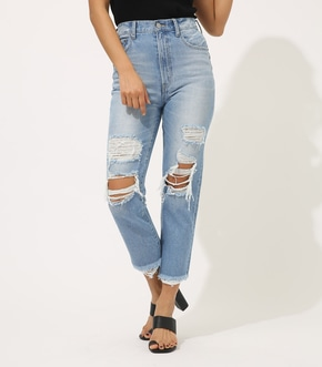 【AZUL BY MOUSSY】CRASH DENIM STRAIGHT