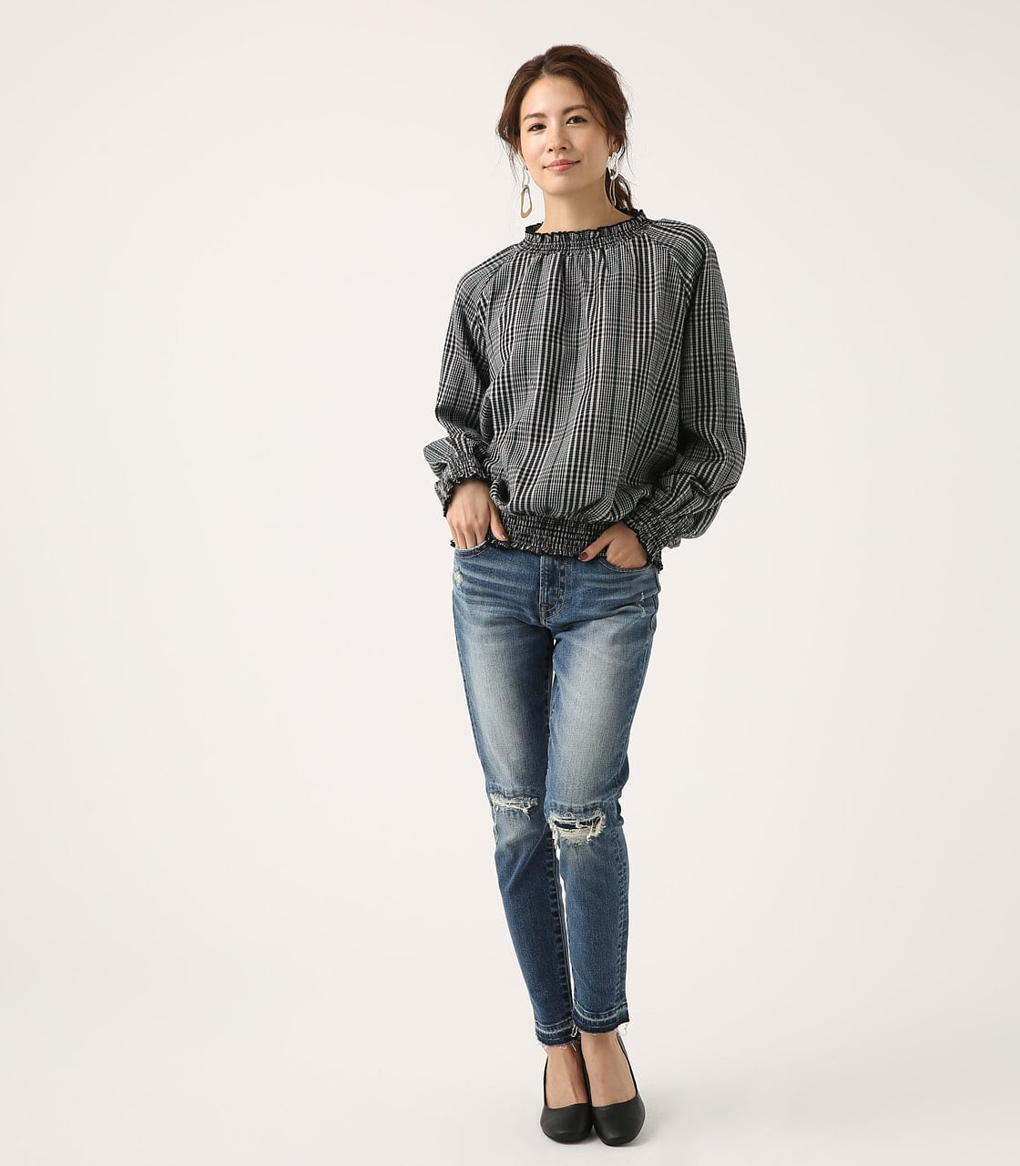 【AZUL BY MOUSSY】REPAIR DENIM SKINNY 詳細画像 BLU 4