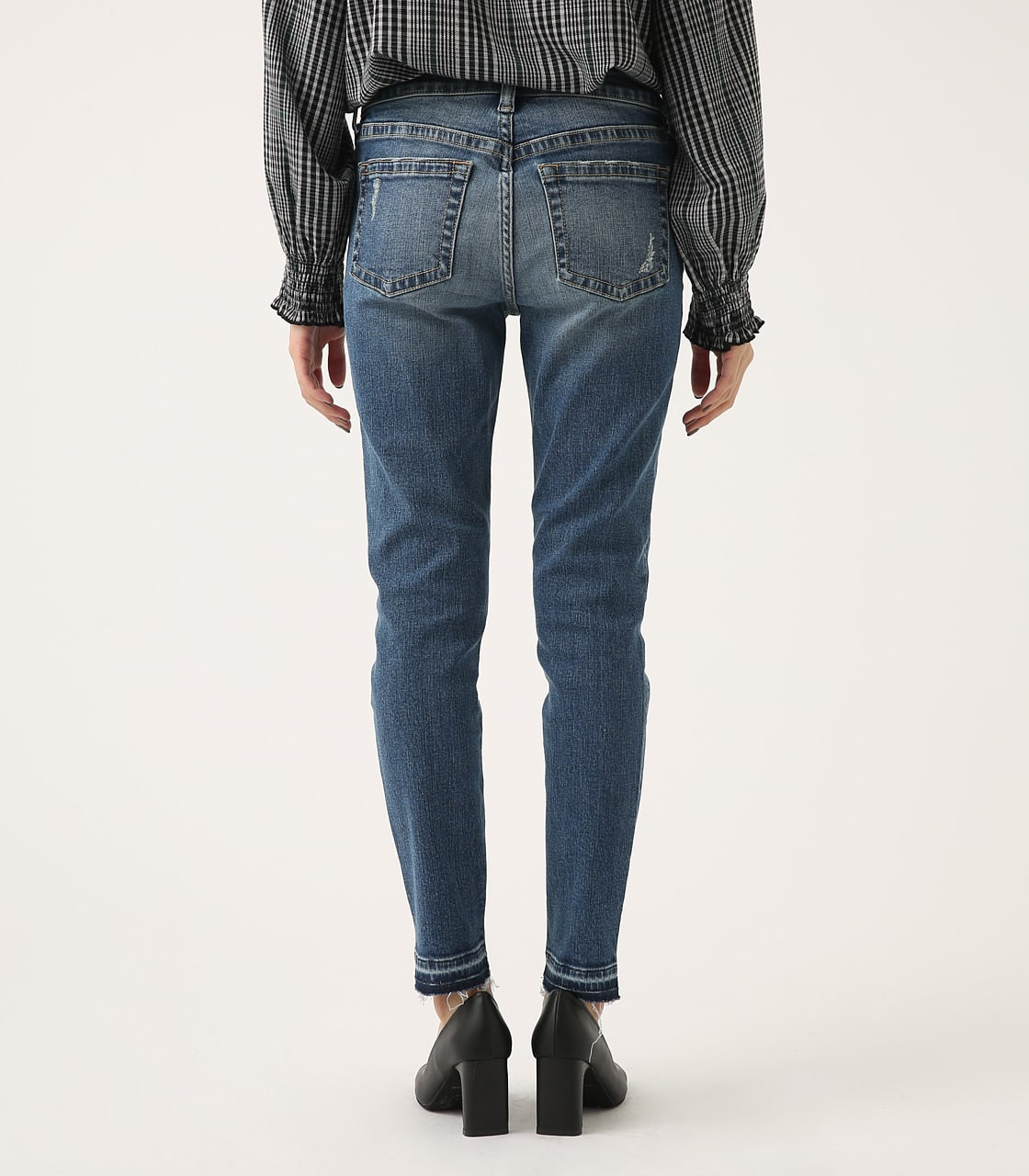 【AZUL BY MOUSSY】REPAIR DENIM SKINNY 詳細画像 BLU 7
