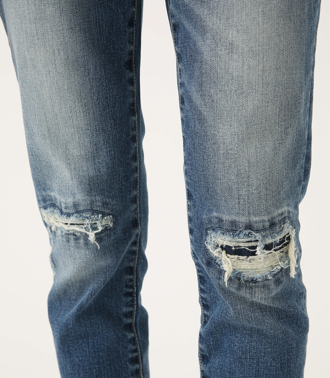【AZUL BY MOUSSY】REPAIR DENIM SKINNY 詳細画像 BLU 9