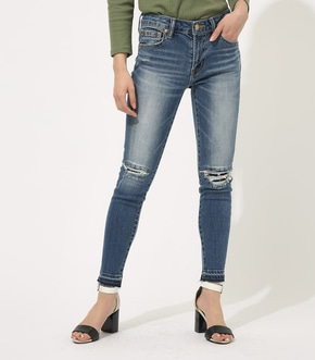 【AZUL BY MOUSSY】REPAIR DENIM SKINNY