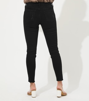 【AZUL BY MOUSSY】CRASH DENIM SKINNY【MOOK50掲載 90100】 詳細画像