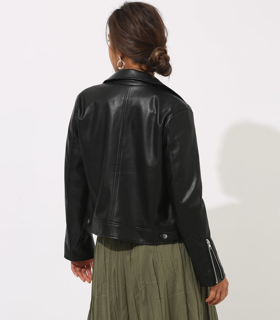 【AZUL BY MOUSSY】フェイクレザーライダース 詳細画像 BLK 7