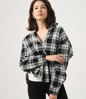 CHECK DROP SHOULDER SHIRT