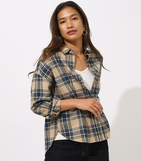 【AZUL BY MOUSSY】CHECK DROP SHOULDER SHIRT