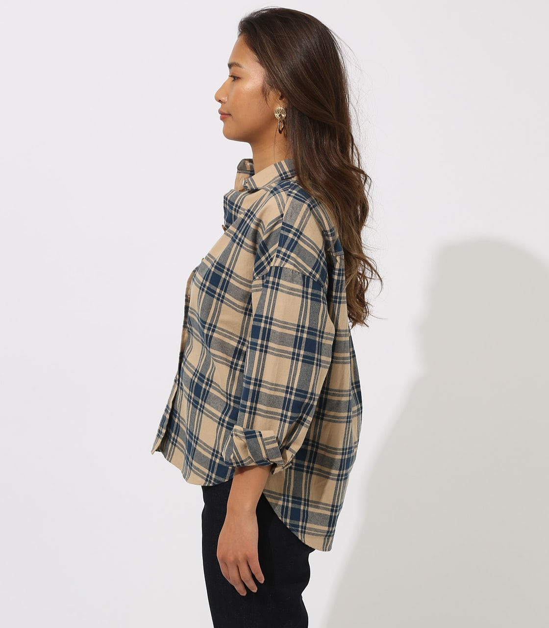 CHECK DROP SHOULDER SHIRT 詳細画像 柄BEG 6