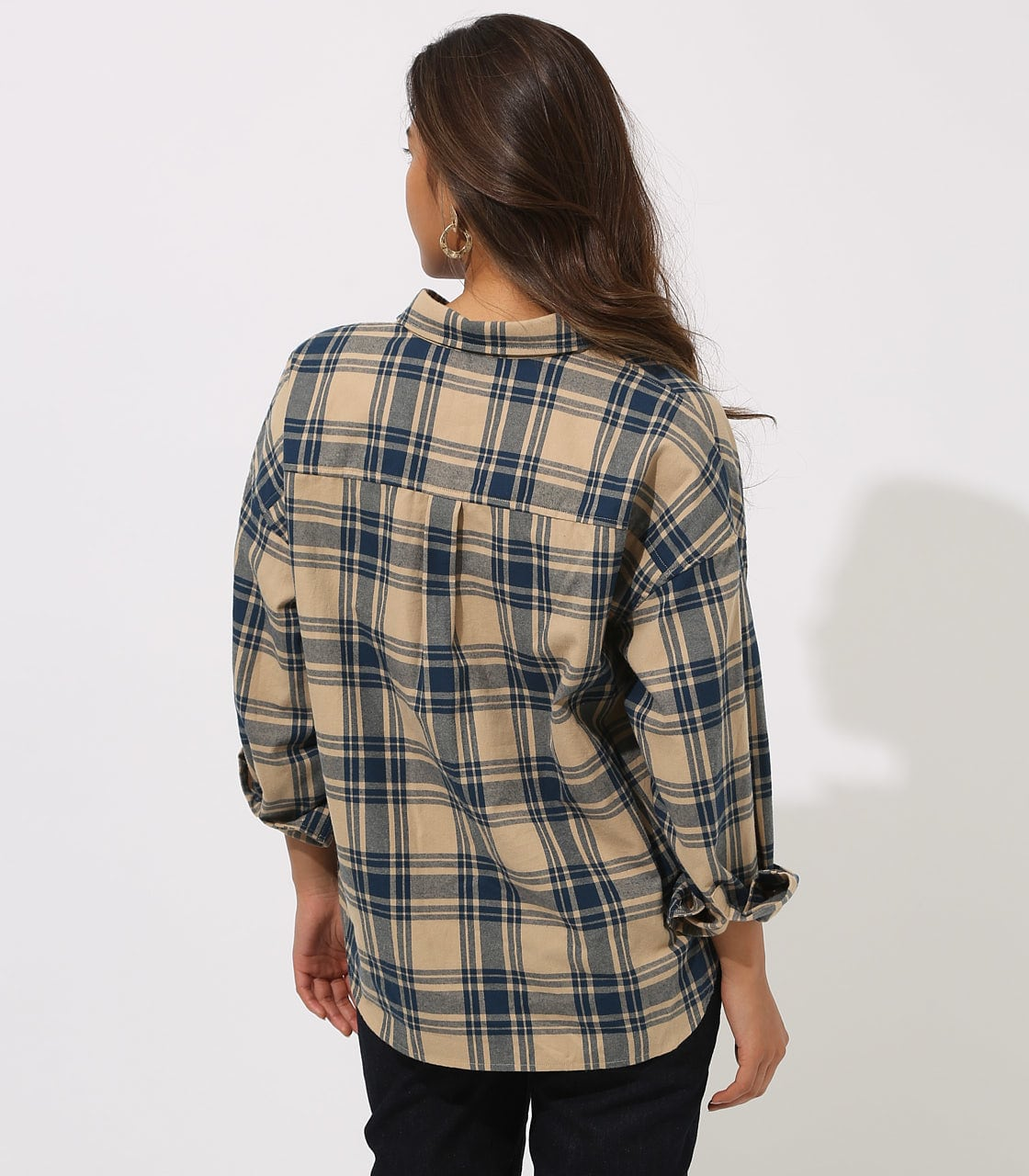 CHECK DROP SHOULDER SHIRT 詳細画像 柄BEG 7