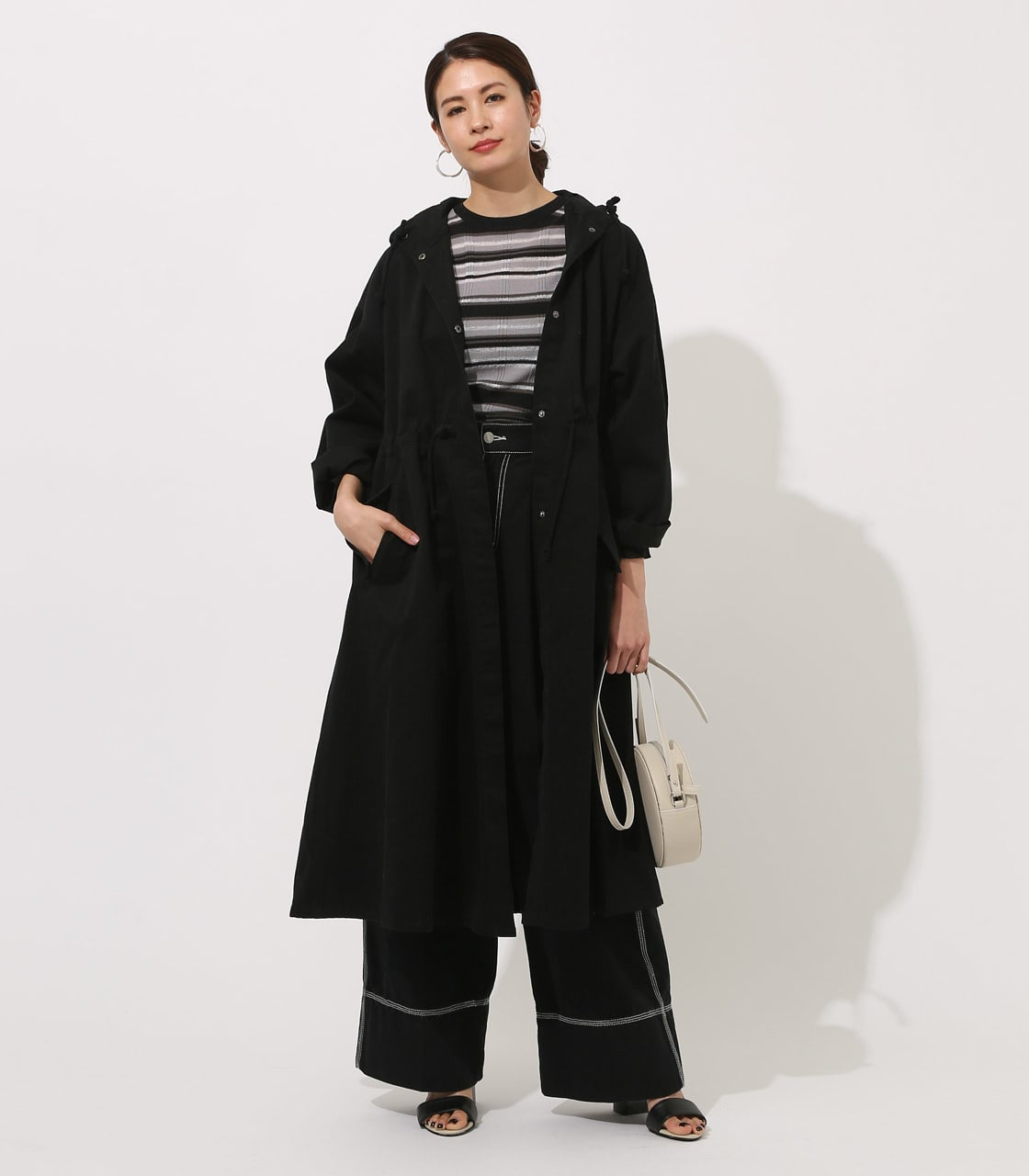 【AZUL BY MOUSSY】LOOSE MODS COAT 【MOOK49掲載 90044】 詳細画像 BLK 1