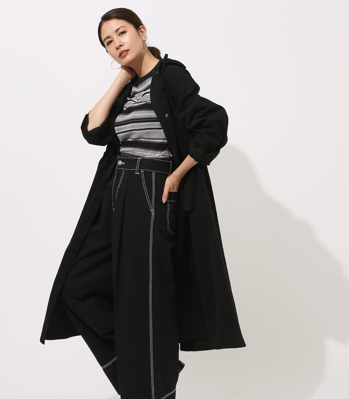 【AZUL BY MOUSSY】LOOSE MODS COAT 【MOOK49掲載 90044】 詳細画像 BLK 2