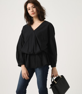 【AZUL BY MOUSSY】KASHKUR GATHER BLOUSE