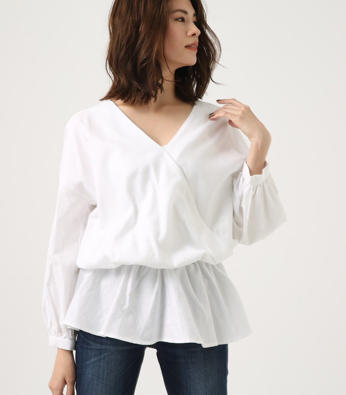 KASHKUR GATHER BLOUSE 詳細画像 O/WHT 3