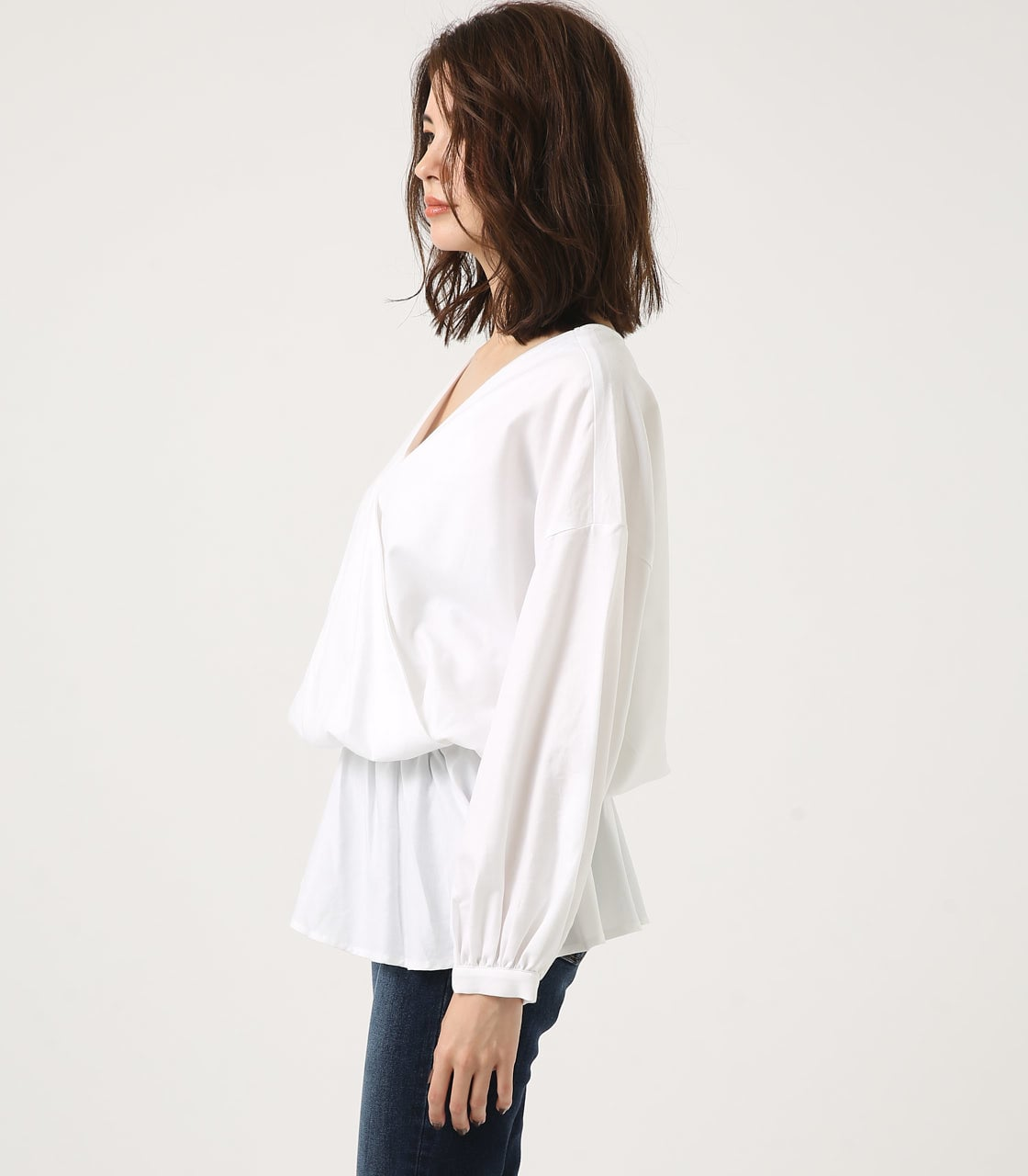 KASHKUR GATHER BLOUSE 詳細画像 O/WHT 6