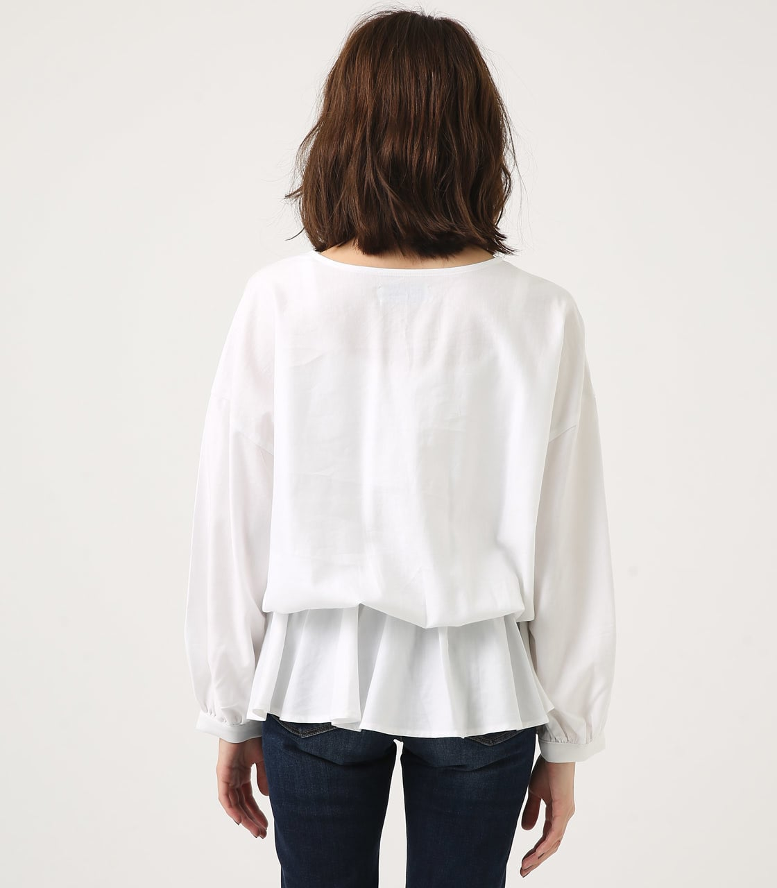 KASHKUR GATHER BLOUSE 詳細画像 O/WHT 7