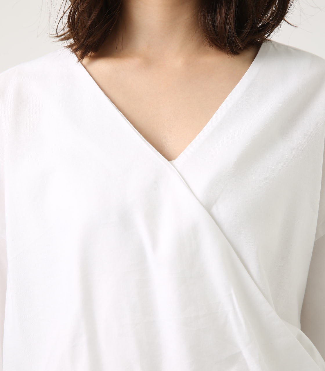 KASHKUR GATHER BLOUSE 詳細画像 O/WHT 8