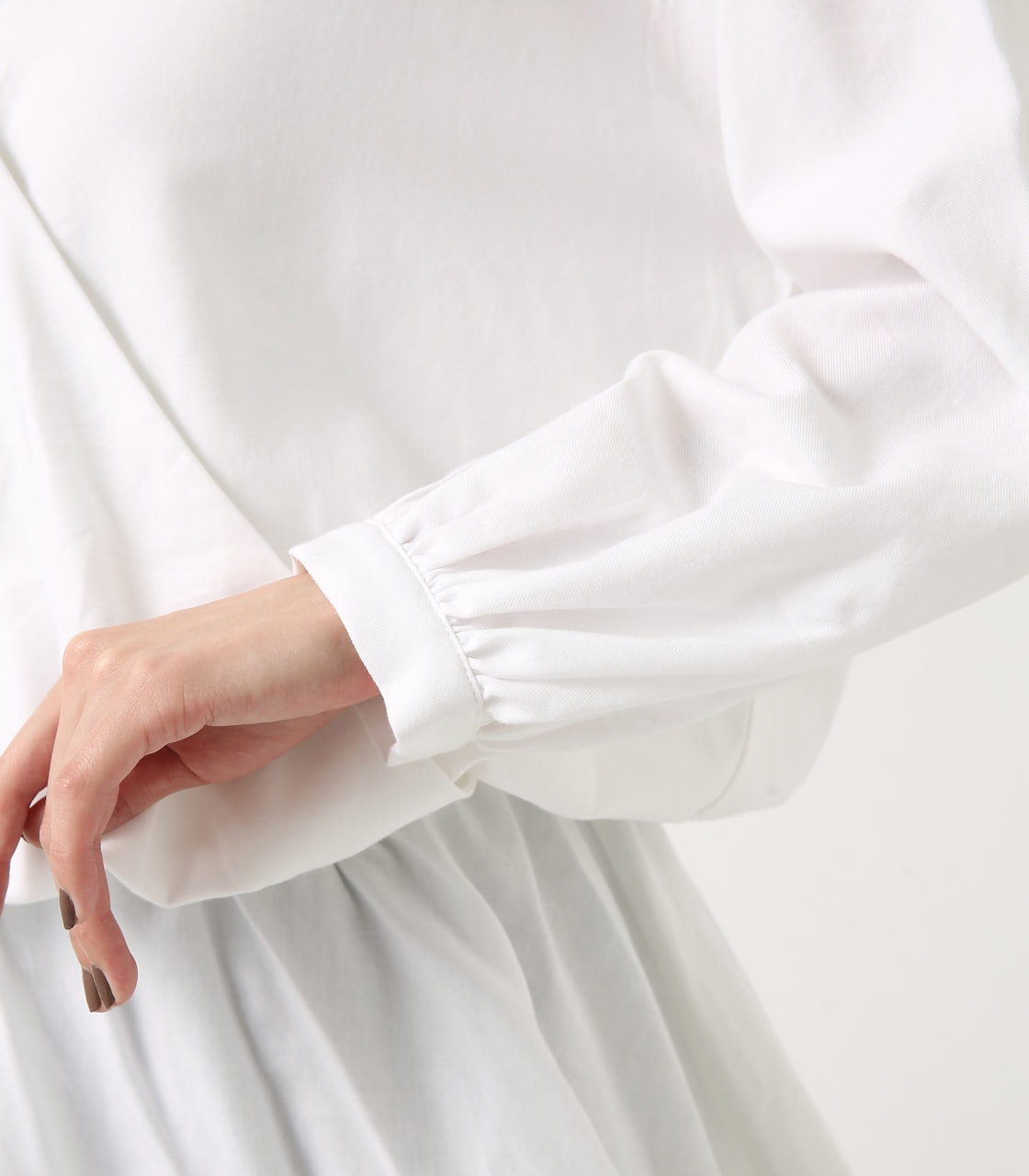 KASHKUR GATHER BLOUSE 詳細画像 O/WHT 9