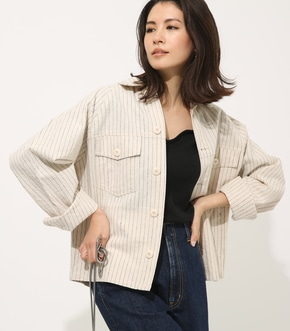 【AZUL BY MOUSSY】COTTON LINEN JACKET